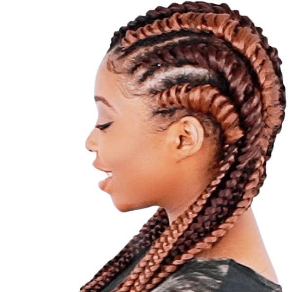 Tree cornrow braids