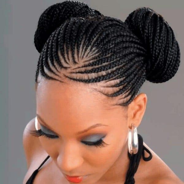 Two bun hairstyle