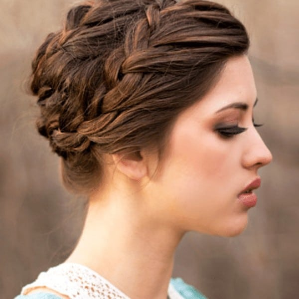 Updo braided hairstyle