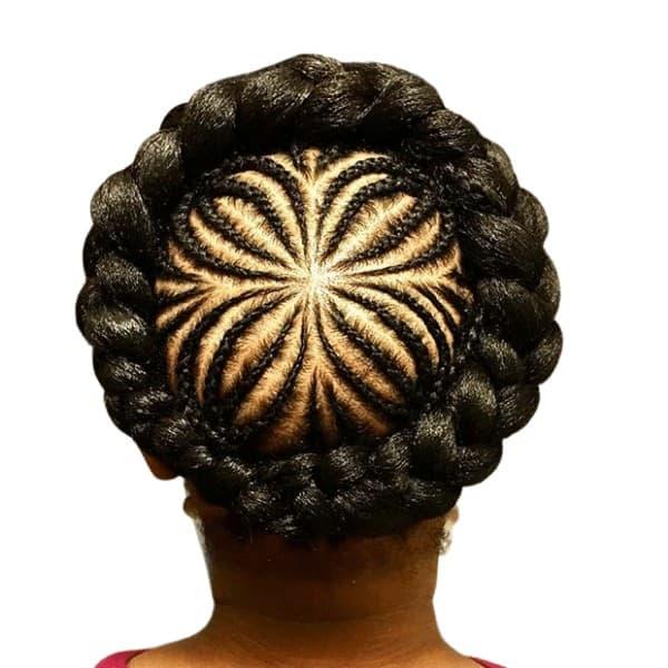 Weaved halo braids