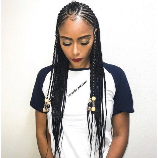 Youthful Fulani Crown with Horizontal Braids