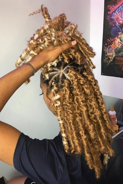 Blonde butterfly braids
