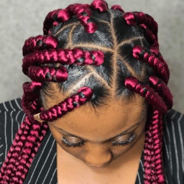 Hot pastel triangle braids