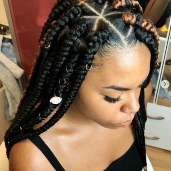 Jumbo triangle braids