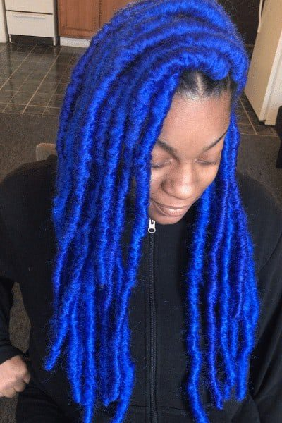 Lively blue butterfly braids