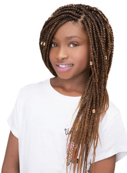 Pre-stretched hair with micro braids