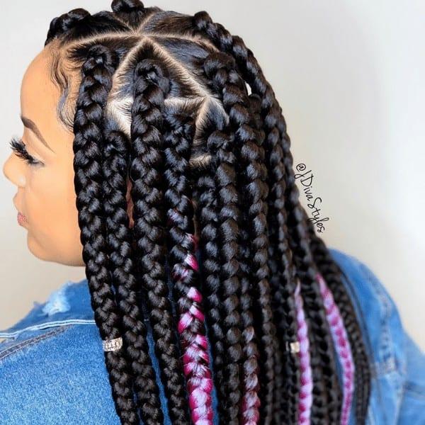 Thick triangle braids