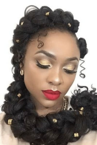 butterfly Braid with curls
