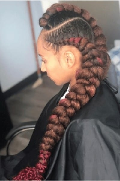 butterfly braid Bold hairstyle