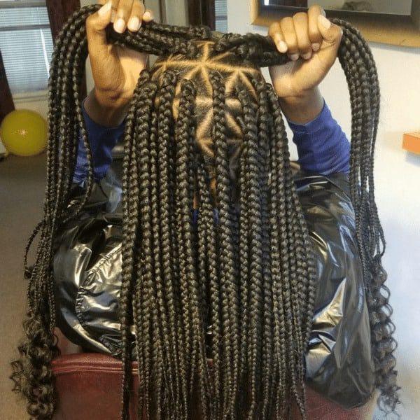 triangle Goddess box braids