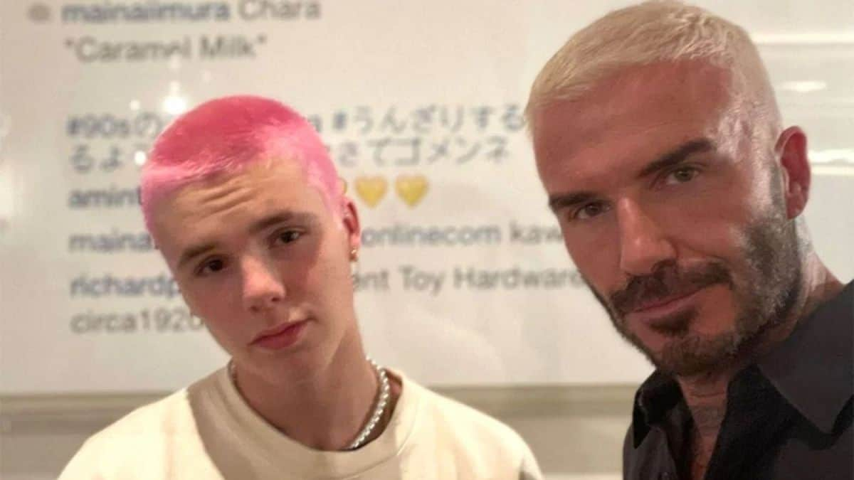 David Beckhams son just dyed his hair pink