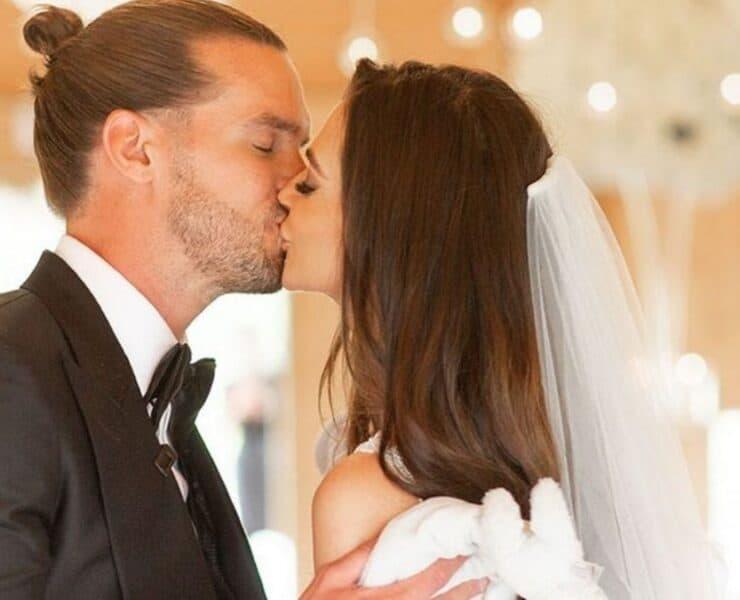 Gaz Beadle and new wife Emma