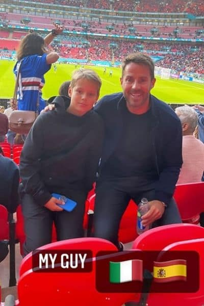 Jamie and Beau watched the match together