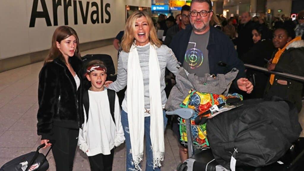 Kate shares two children with husband Derek Draper