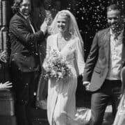 Lara Stone as she ties the knot with David Grievson in a private ceremony