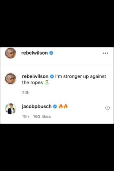 Rebels Ex boyfriend Jacob also commented